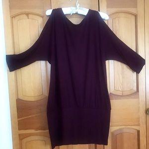 The Limited Burgundy Cold Shoulder Dress